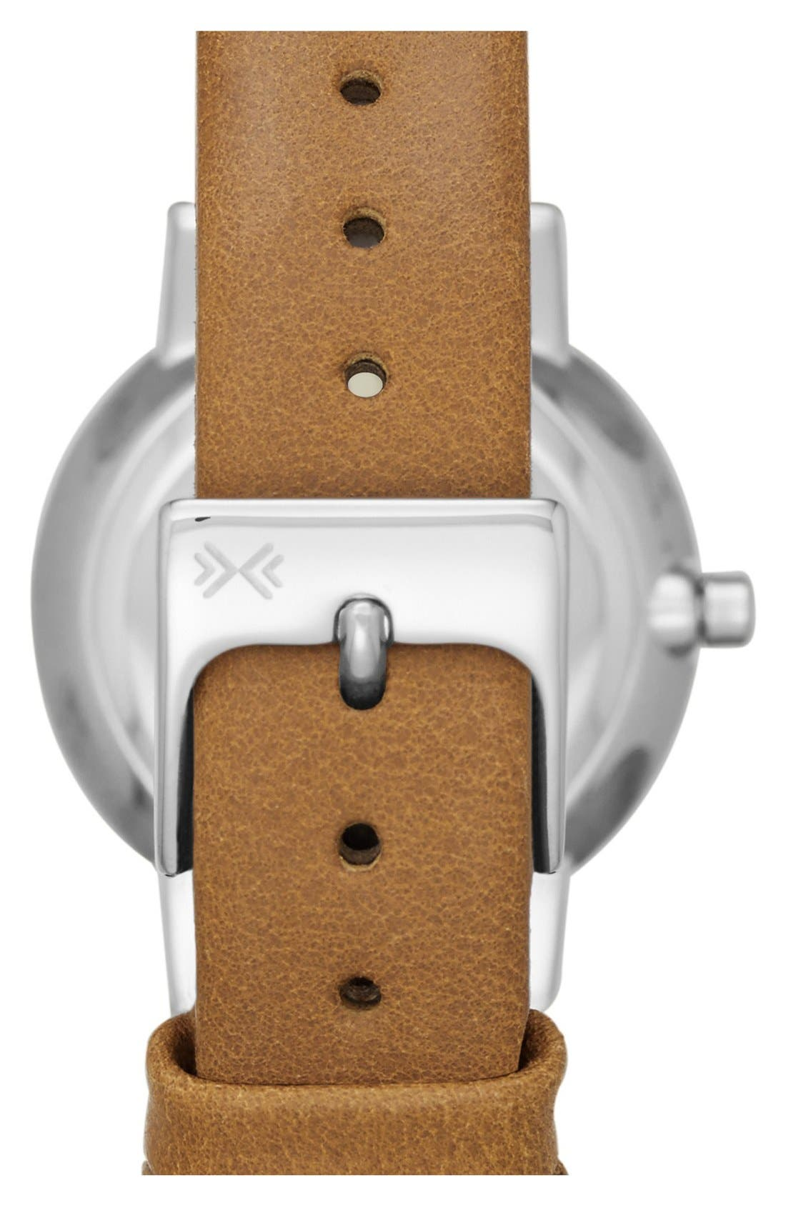 Alternate Image 2  - Skagen 'Ancher' Crystal Index Leather Strap Watch, 26mm (Nordstrom Exclusive)