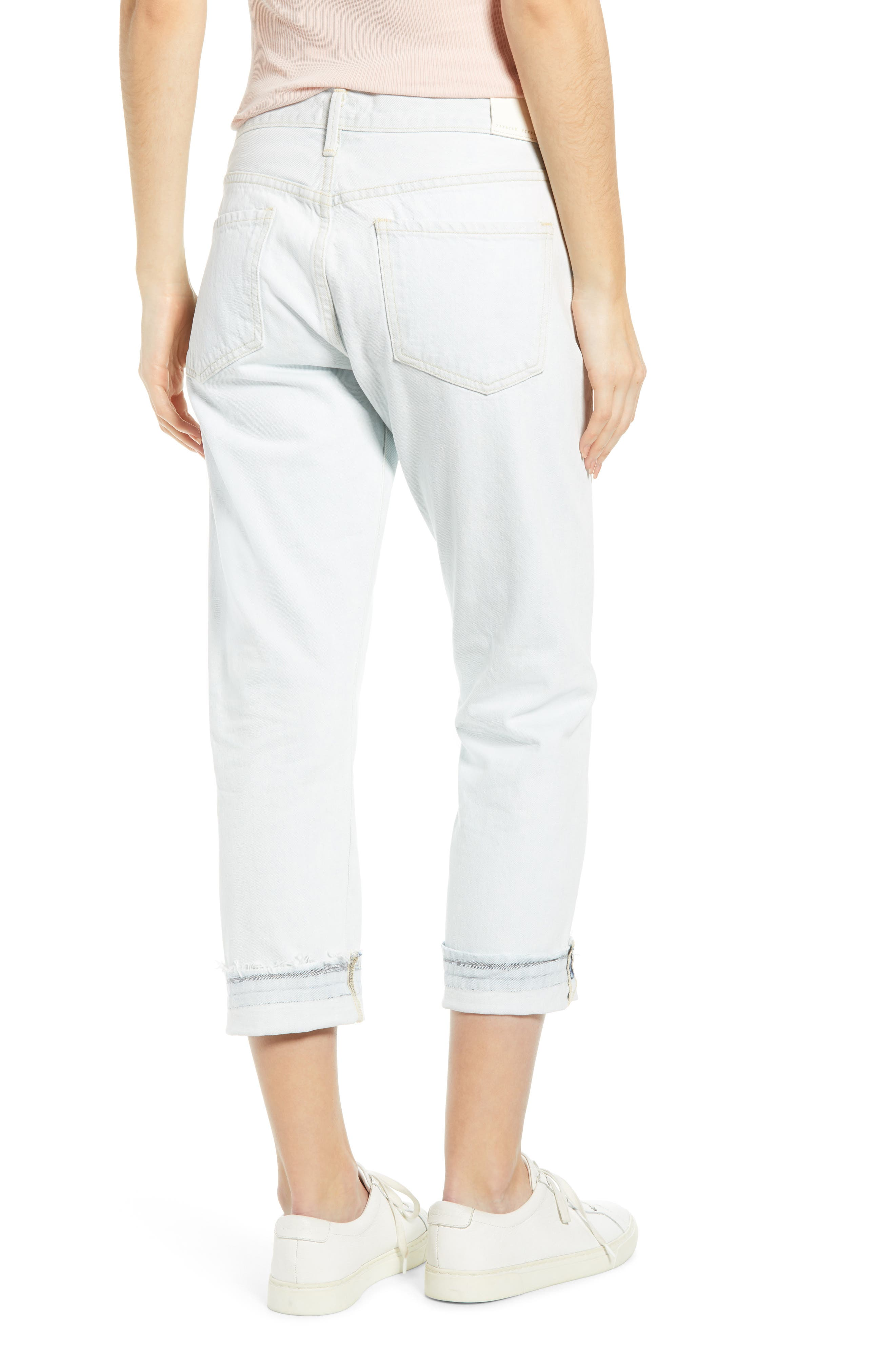 f50a9ad253778d Women's White Wash Cropped Jeans | Nordstrom