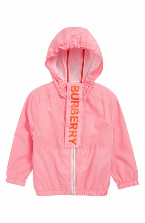 7cda78881adb Burberry Austin Logo Hooded Windbreaker (Toddler Girls