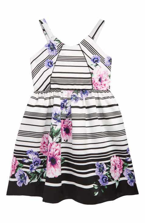 514bd6fa9045 Trixxi Floral Stripe Fit   Flare Dress (Little Girls   Big Girls)