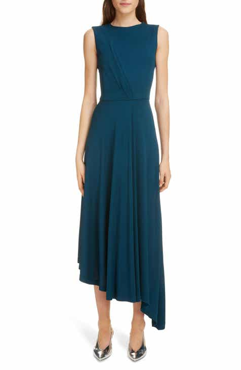 Givenchy Gathered Jersey Midi Dress