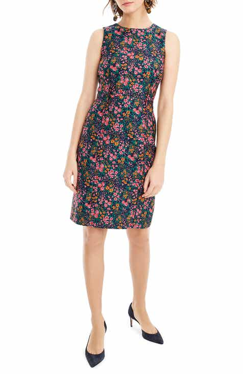 8ec704238c4 J.Crew Botanic Jacquard Sheath Dress