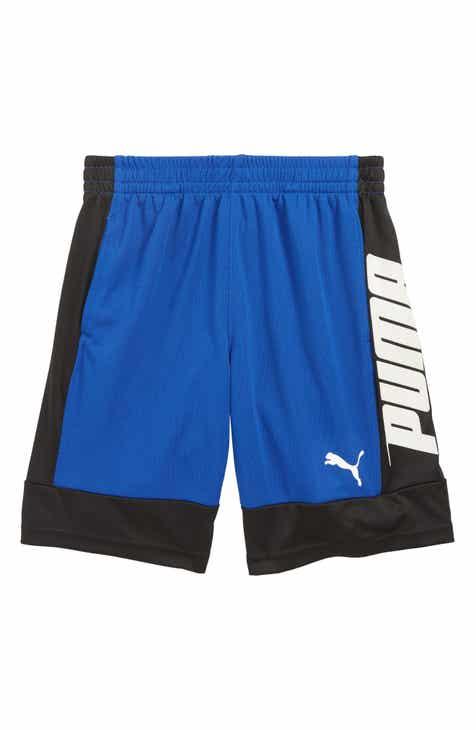 8cd79475949 PUMA Logo Performance Mesh Shorts (Little Boys)