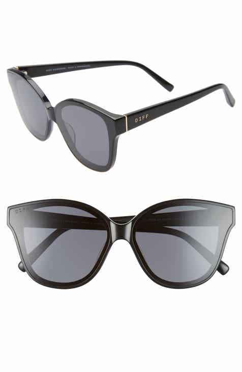 3bd86c62ed16a DIFF Piper 58mm Oversize Polarized Cat Eye Sunglasses