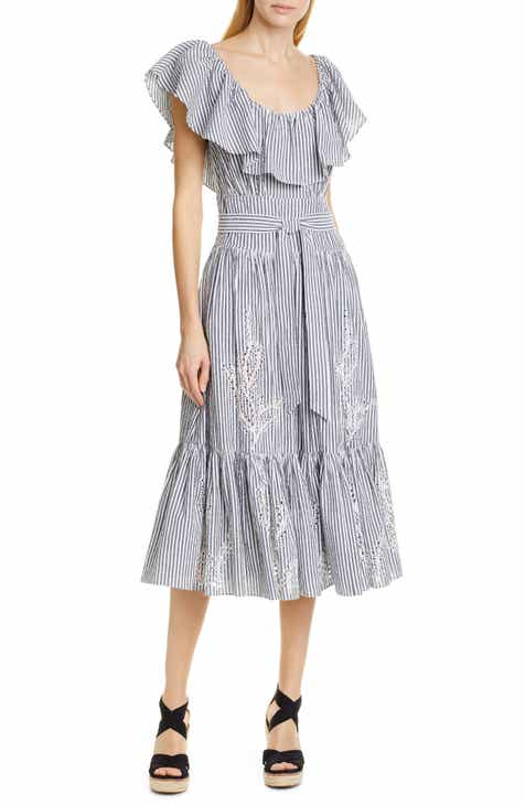 Tory Burch Eyelet Embroidered Dress by TORY BURCH