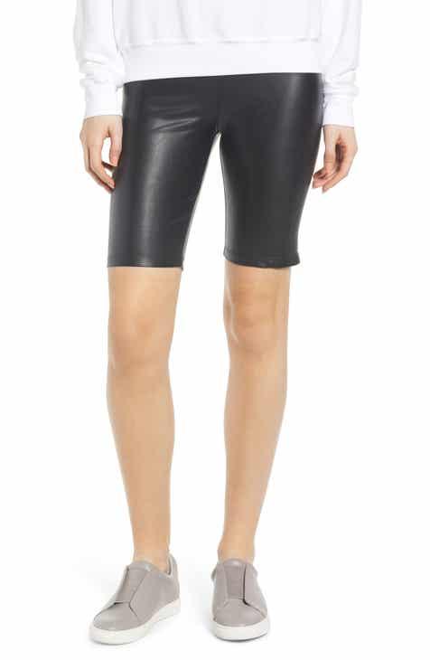 72e0444dcbfb5 David Lerner Stretch Faux Leather Bike Shorts