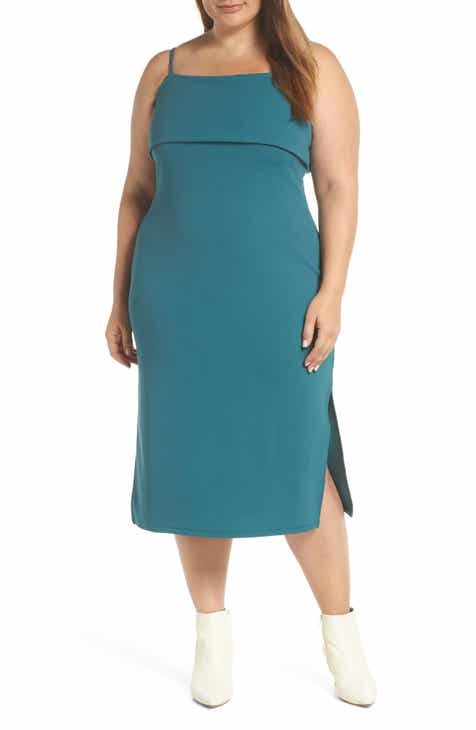 729d20062c Leith Sleeveless Midi Dress (Plus Size)