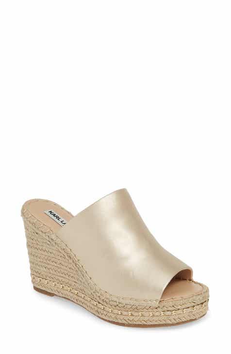 821f3450bc Karl Lagerfeld Paris Carina Wedge Sandal (Women)