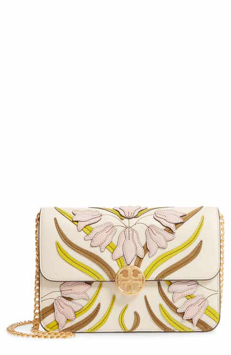 d8239c789163 Tory Burch Chelsea Floral Appliqué Leather Shoulder Bag