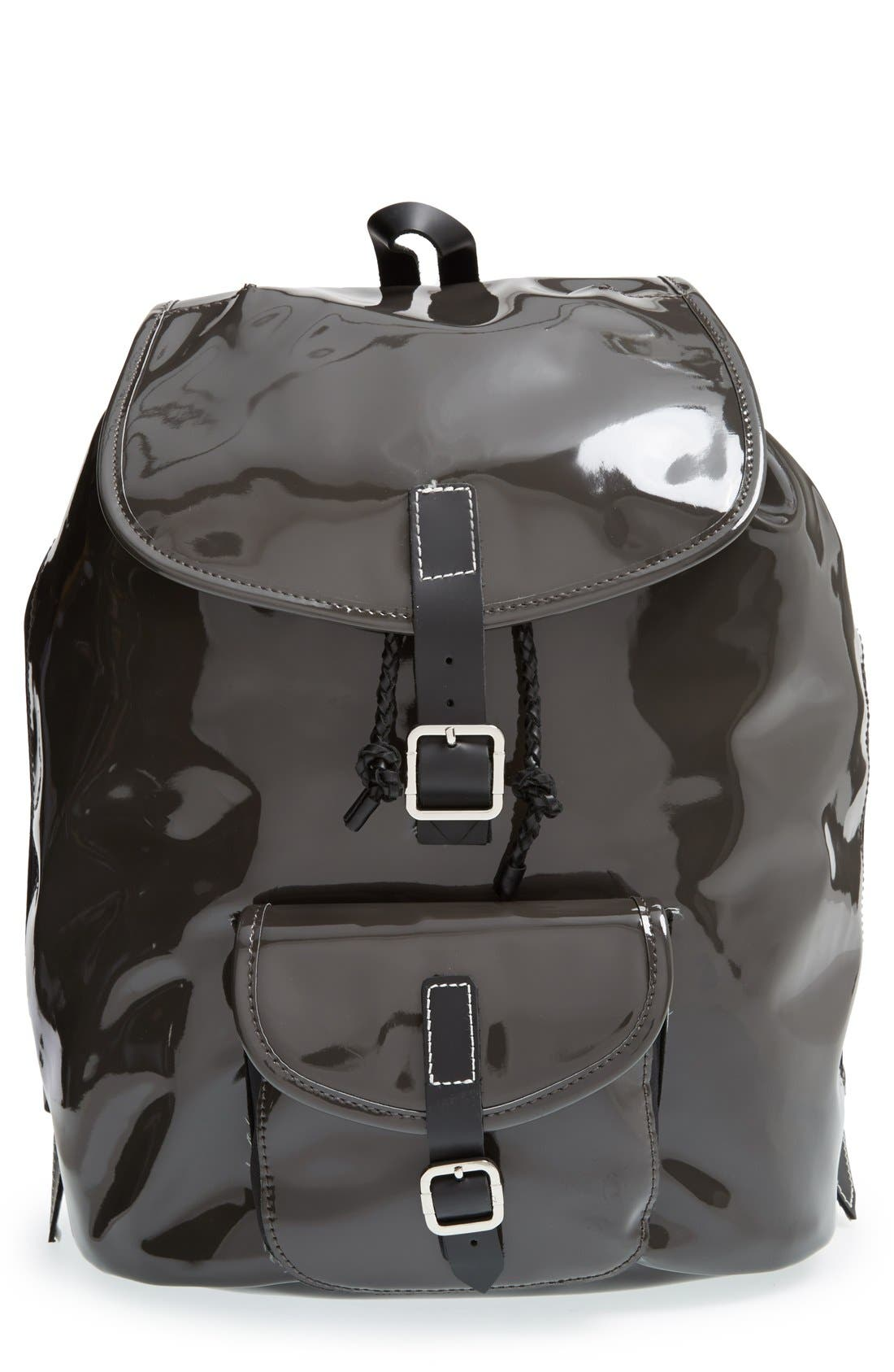 Alternate Image 1 Selected - Harper Ave 'Philip' Neoprene & Faux Patent Leather Backpack