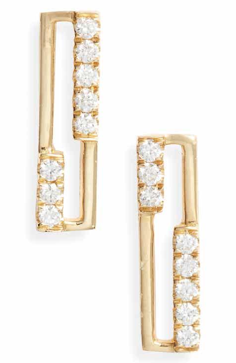 99a9b99e5256 Bony Levy Diamond   18K Gold Open Rectangle Stud Earrings (Nordstrom  Exclusive)