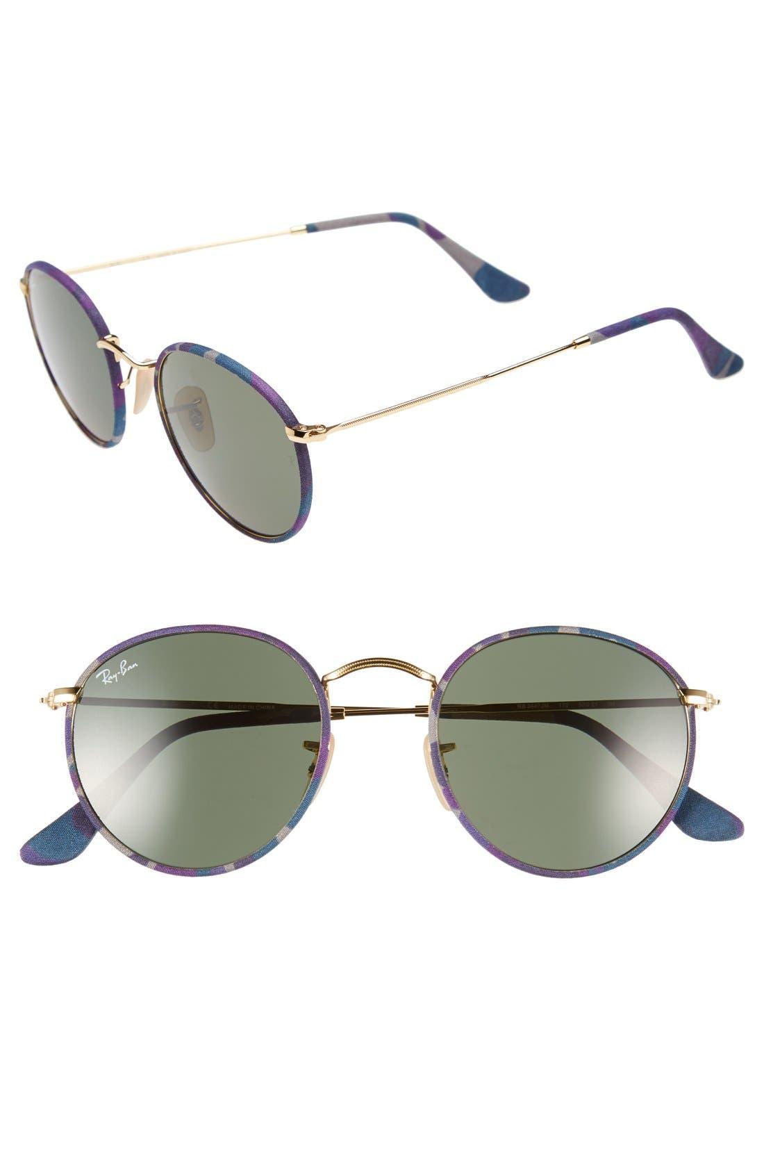 Main Image - Ray-Ban Icons 50mm Camo Print Round Sunglasses