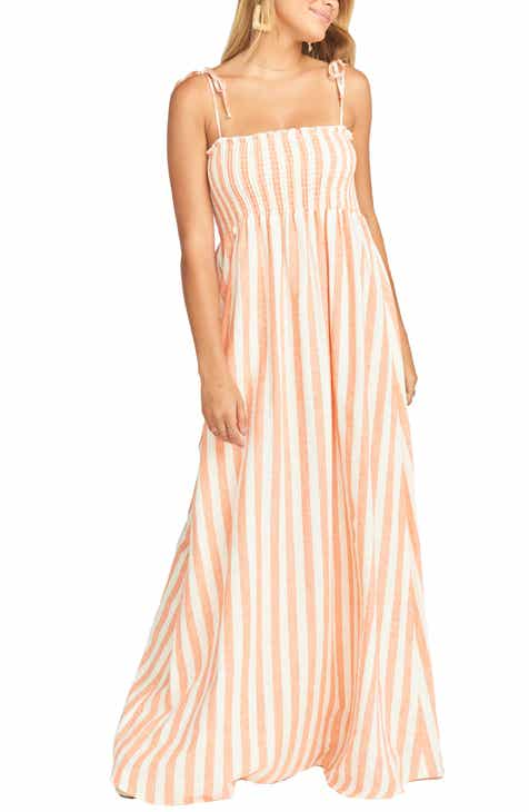 cb5f4a3cf2b Show Me Your Mumu Maggie Stripe Linen Blend Maxi Dress