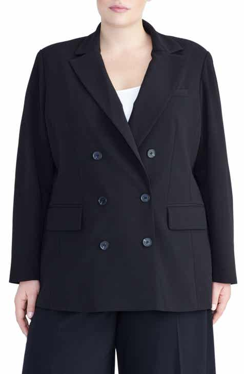 Rachel Roy Collection Double Breasted Blazer (Plus Size) by RACHEL ROY COLLECTION