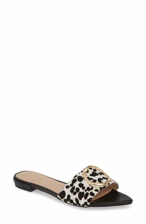 d2c5f98149fd0 Something Navy Cassie Genuine Calf Hair Slide Sandal (Women) (Nordstrom  Exclusive)