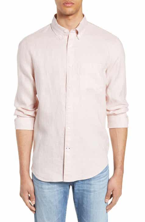 Club Monaco Solid Linen Slim Fit Sport Shirt