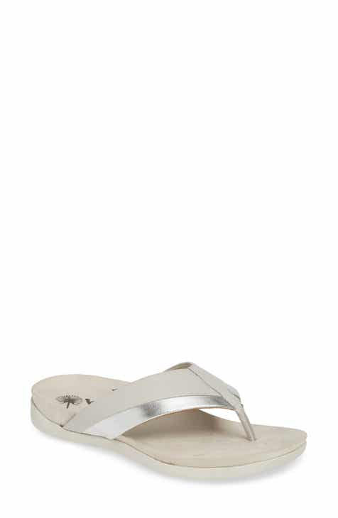 41a1deee72e0 Metallic Flip-Flops   Sandals for Women