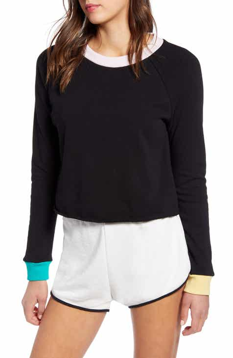 Wildfox Beach House Contrast Detail Crop Sweatshirt By WILDFOX by WILDFOX 2019 Sale