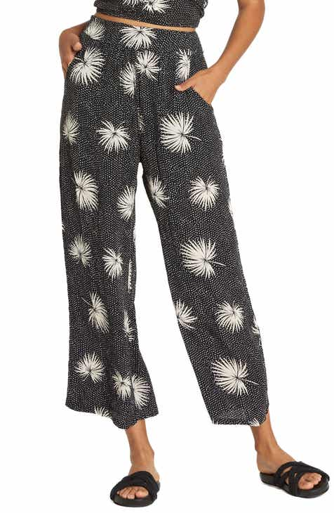 Billabong Cut Through Print Wide Leg Crop Pants by BILLABONG