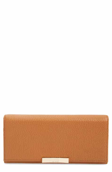 ef8f7f6f28ccbc Ted Baker London Bevv Bow Leather Matinée Wallet