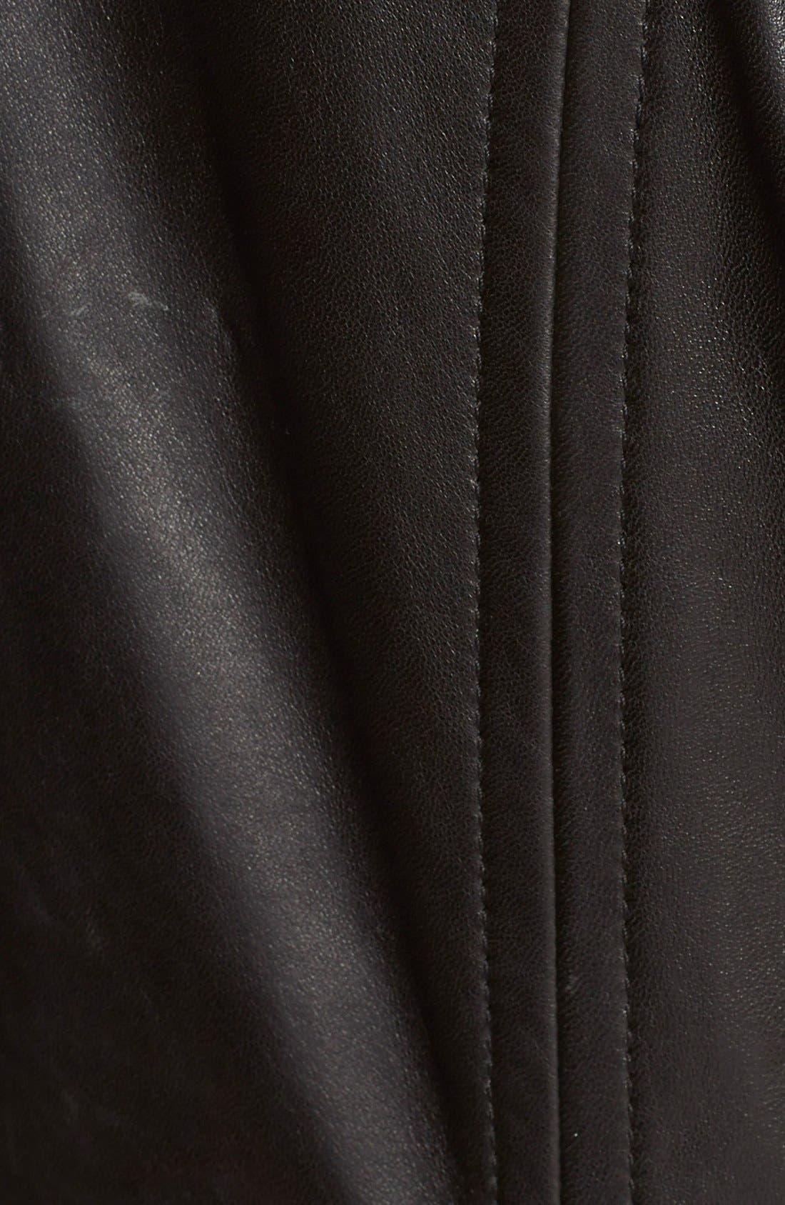 Alternate Image 3  - Ted Baker London 'Riza' Leather Moto Jacket