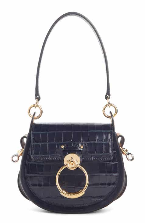 5403c3ad4b0 Chloé Small Tess Croc Embossed Calfskin Shoulder Bag