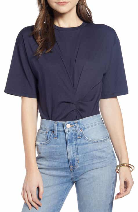 16360108caa3e Something Navy Gathered Bodysuit (Nordstrom Exclusive)