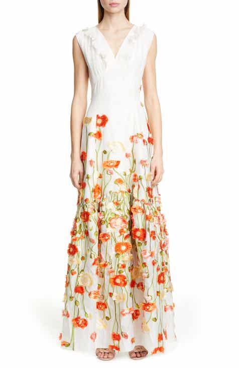 ef591955b4 Malene Oddershede Bach Papaver Floral Fil Coupé Jacquard Gown