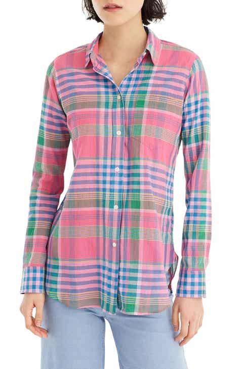 6458c59199875f J.Crew Crinkle Plaid Classic-Fit Boy Shirt