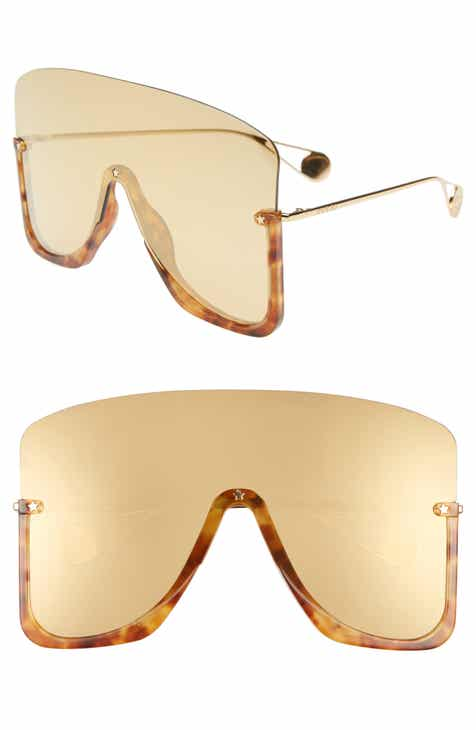 74b4d07d352 Gucci 99mm Oversize Shield Sunglasses.  795.00. Product Image. SHINY BLACK