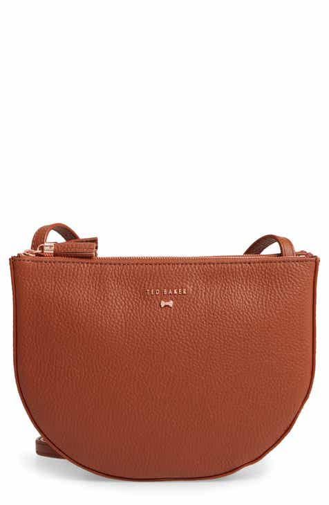 a8546042c Ted Baker London Suzzane Semi Circle Double Zip Leather Crossbody Bag
