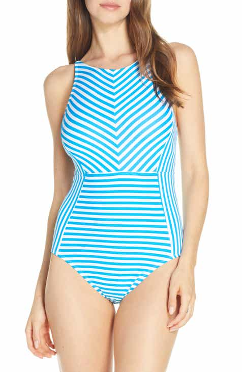 8b2b47dc74 Tommy Bahama Palm Party Lace Back One-Piece Swimsuit