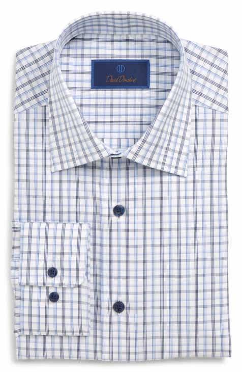 a377d9c733eb David Donahue Regular Fit Plaid Dress Shirt