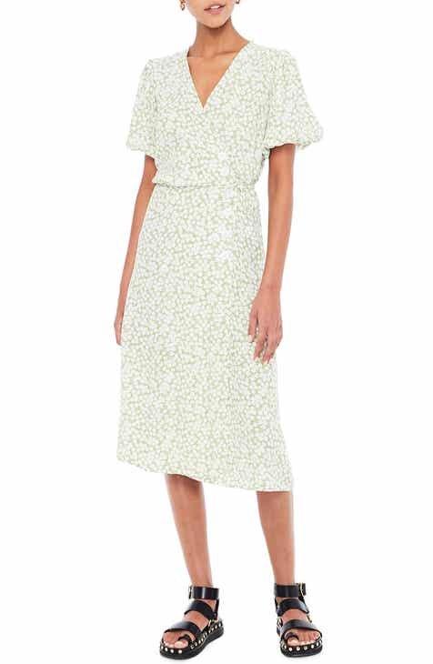 FAITHFULL THE BRAND Marta Floral Wrap Midi Dress