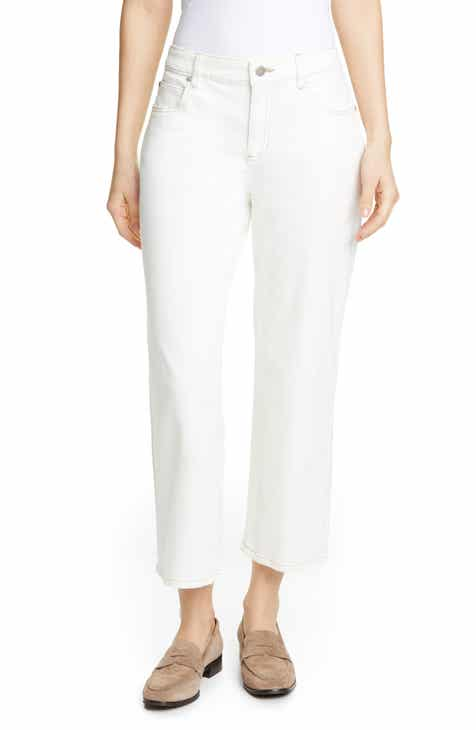 Eileen Fisher Stretch Organic Cotton Jeans (Undyed Natural) by EILEEN FISHER
