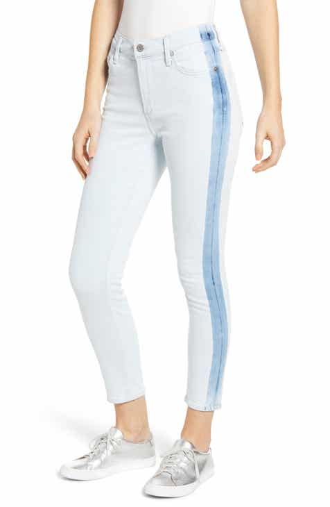 b4bde08f3db9d1 Citizens of Humanity Rocket Side Stripe High Waist Crop Skinny Jeans  (Cherish)