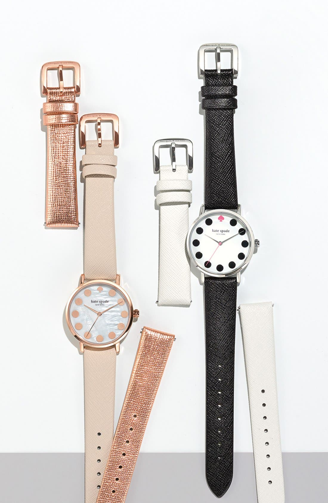 Alternate Image 6  - kate spade new york 'metro' boxed dot dial watch & straps set, 34mm (Nordstrom Exclusive)