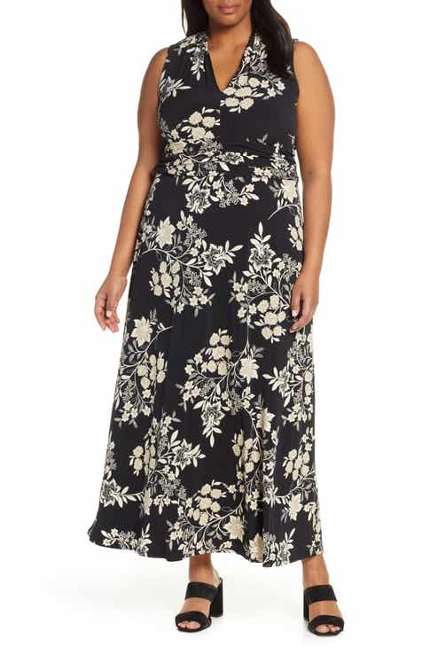 d4fe11086615 Vince Camuto Floral Getaway Maxi Dress (Plus Size). $134.00. Product Image