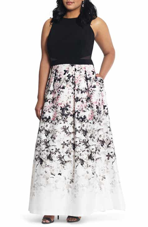 da330e348a9d Xscape Floral Print Evening Gown (Plus Size)
