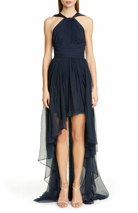 Stella McCartney Crinkle Silk Chiffon High/Low Dress by STELLA MCCARTNEY