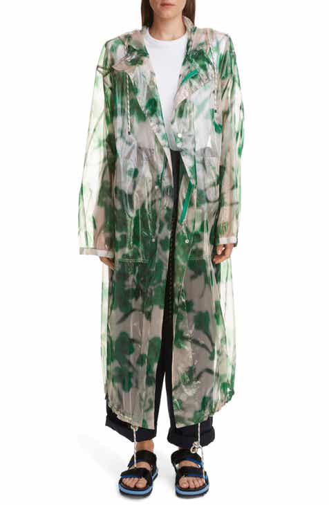 Dries Van Noten Royage Transparent Floral Hooded Raincoat by DRIES VAN NOTEN