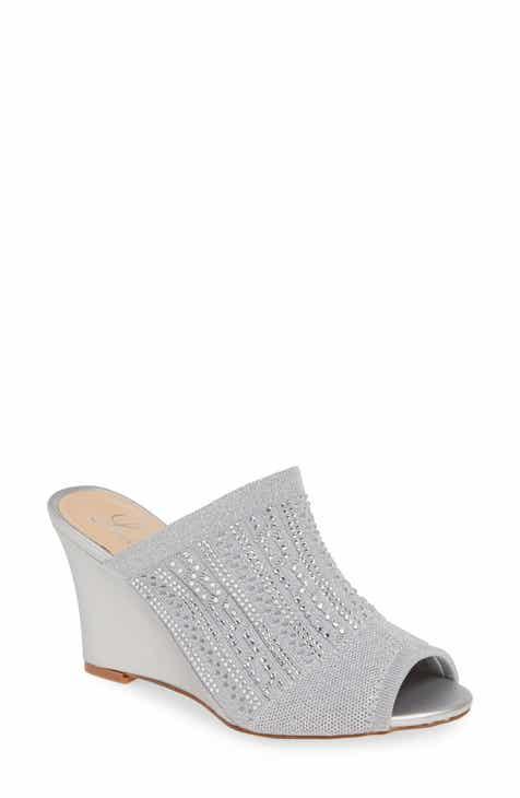 99b8c59f764 Lauren Lorraine Martha Wedge Slide Sandal (Women).  79.95. Product Image. BLACK  FABRIC