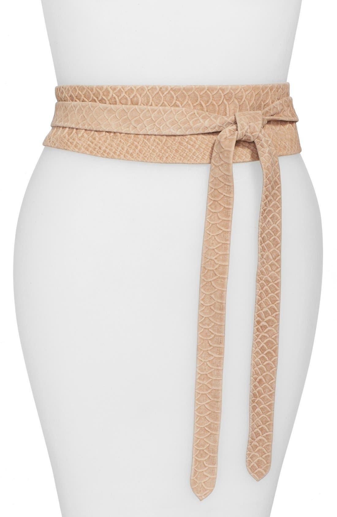 Alternate Image 1 Selected - Ada 'Obi' Leather Wrap Belt