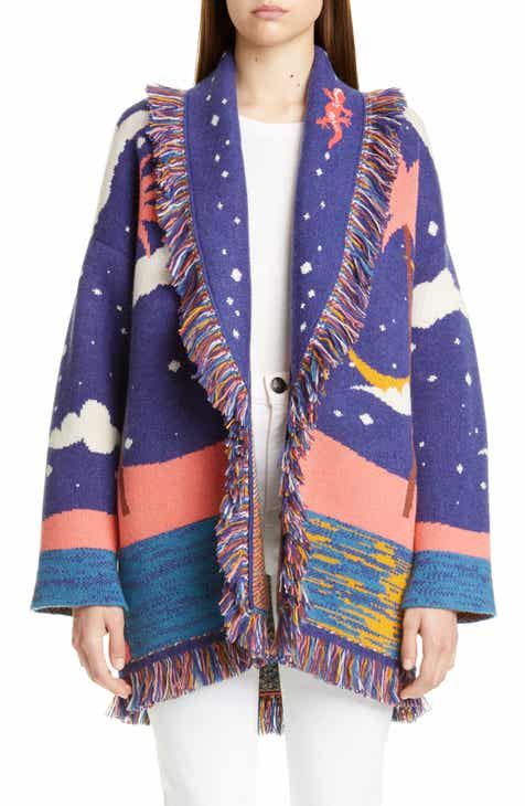 Alanui Ocean View Window Oversize Cashmere Cardigan by ALANUI