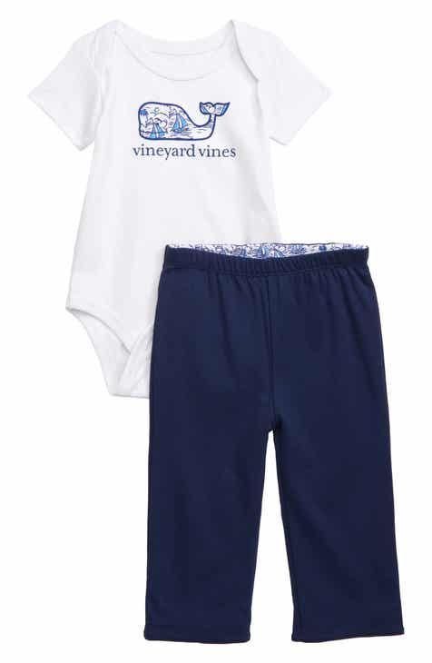 cd6202cc4 vineyard vines Sailboats Whale Bodysuit   Reversible Pants Set (Baby)
