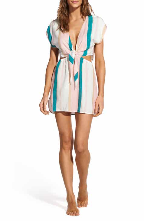 ViX Swimwear Chimera Amber Stripe Cover-Up Tunic