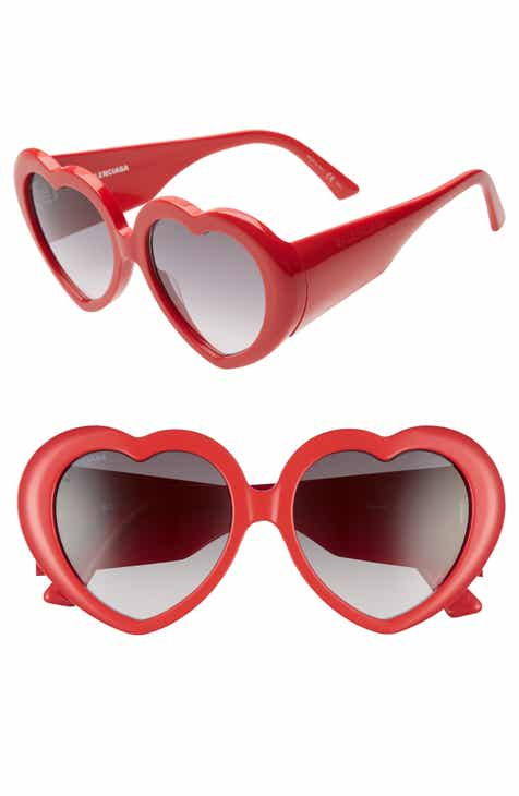 a2c5943bddd8 Balenciaga 54mm Heart Shaped Sunglasses