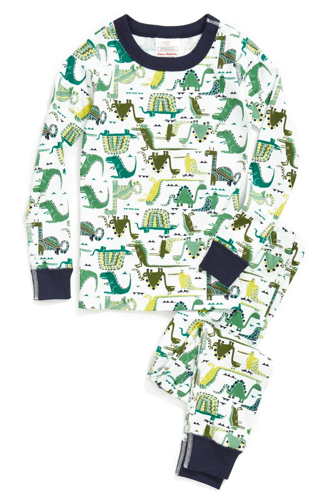 Alternate Image 1 Selected - Hanna Andersson 'Rockets' Fitted Long Johns (Toddler Boys, Little Boys & Big Boys)