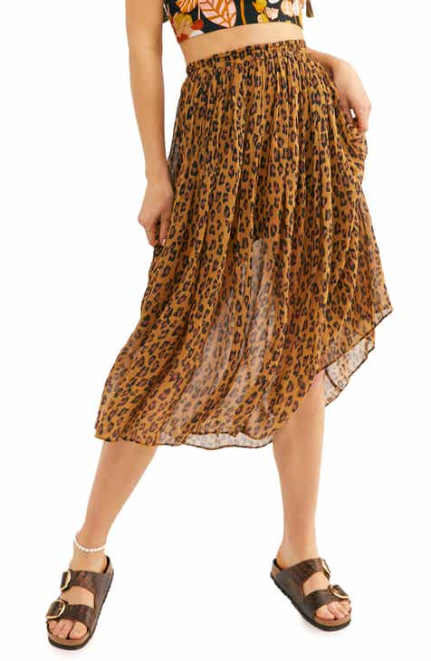 Free People Skyline Rib Midi Skirt by FREE PEOPLE