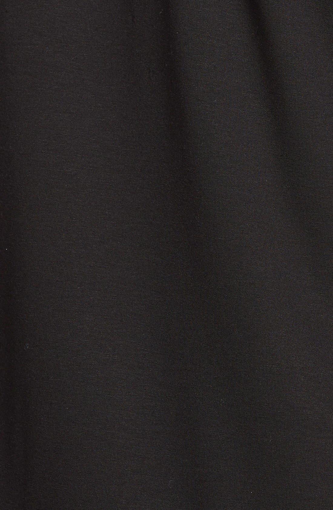 V-Neck Tunic,                             Alternate thumbnail 3, color,                             Black